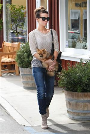 Kate Beckinsale out with her dog in Los Angeles 4/8/13