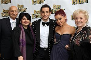 Ariana Grande opening night of Born Yesterday on April 24, 2011