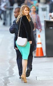 Jennifer Lawrence Arriving at the Jimmy Kimmel Live (January 31, 2013)