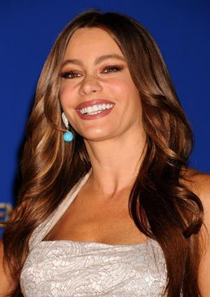 Sofia Vergara at the 69th annual Golden Globe Award Vominations on December 15, 2011