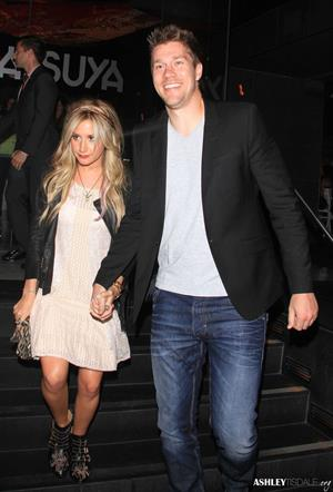 Ashley Tisdale leaving Katsuya restaurant in Hollywood 02-08-2012