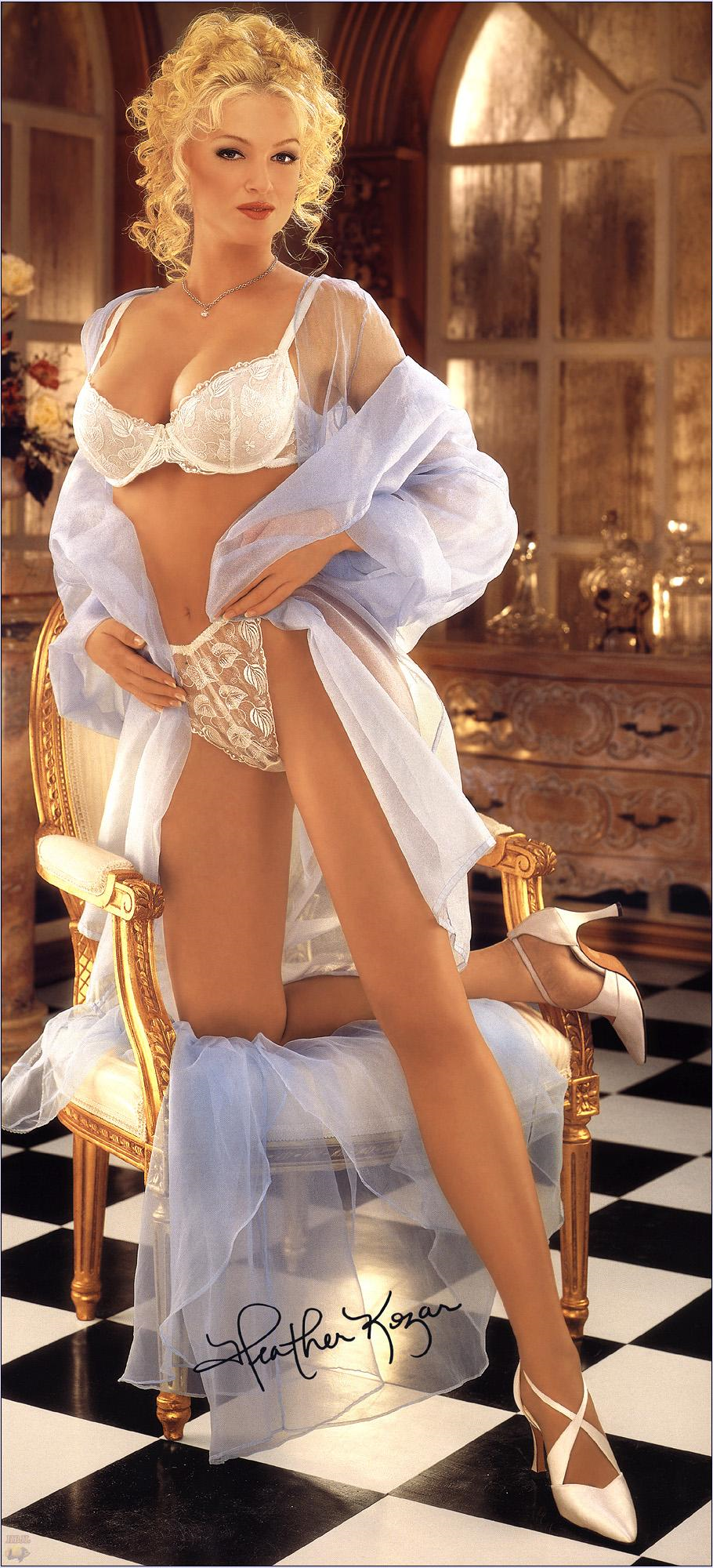 Heather Kozar in lingerie