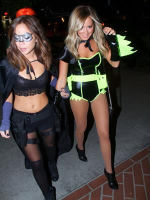 Ashley Tisdale out celebrating Halloween in Studio City 10/31/12