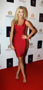 Abbey Clancy opening of Embassy Dubai at Grosvenor House Hotel on November 16, 2011