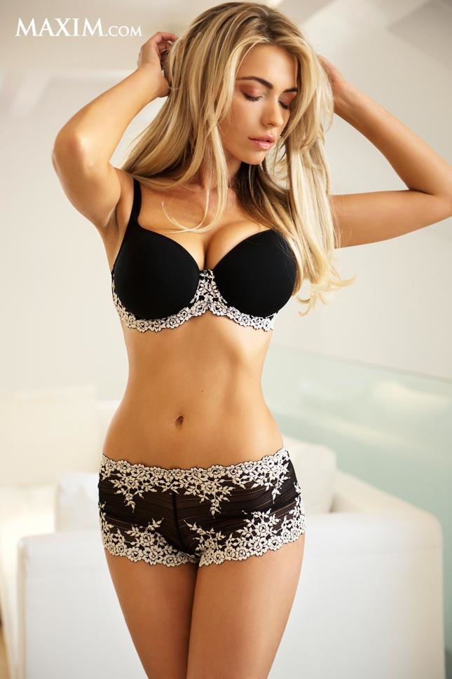 April Summers in lingerie