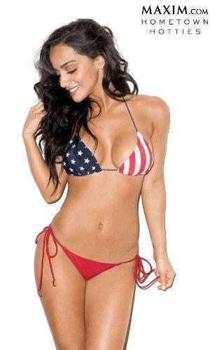Brittney Alger in a bikini