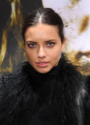 Adriana Lima the Nomad Two Worlds Russell James Exhibit opening on December 05, 2011