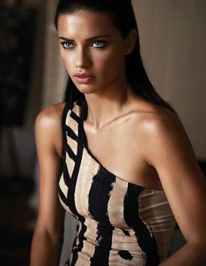 Adriana Lima Donna Karan spring 2012 collection