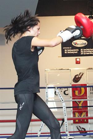 Adriana Lima hits the gym in Miami Beach on October 25, 2011