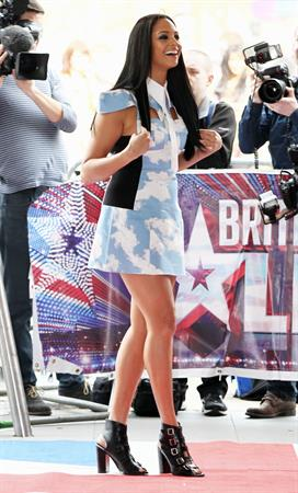 Alesha Dixon - arriving at Britain's Got Talent studios - London March 22, 2012