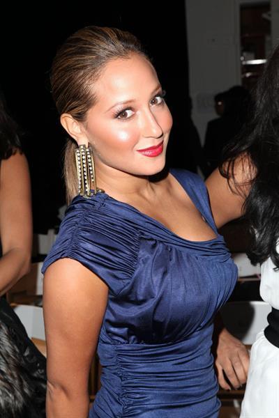 Adrienne Bailon bebe Show at MBFW on February 16, 2010
