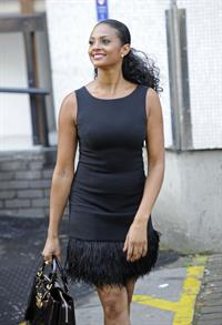 Alesha Dixon - Leaving ITV studios in London - 29.09.11