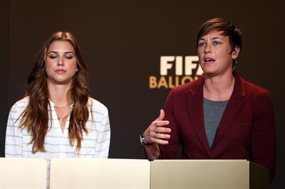 Alex Morgan FIFA Ballon d'Or Gala 2012, Jan 7, 2013