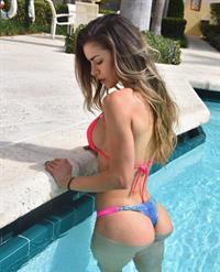 Anllela Sagra in a bikini - ass