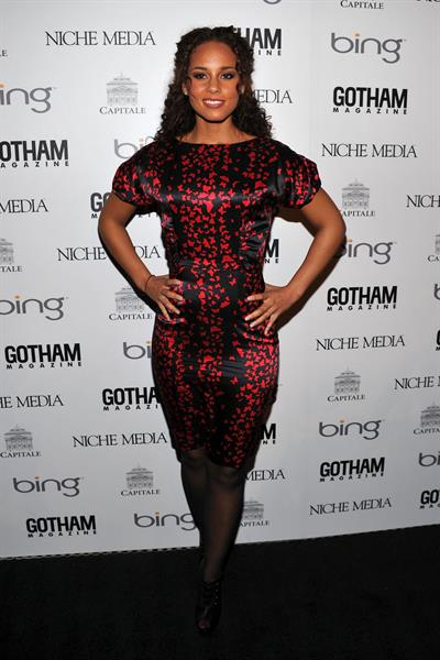 Alicia Keys hosts Gotham Magazine Annual Gala on March 15, 2010