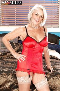 Georgette Parks in lingerie