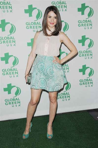 Alison Brie attends Global Green USA's 9th annual pre Oscar Party in Hollywood on February 22, 2012