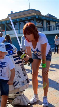 Alison Haislip attending the Star Wars Course of the Force in Redondo Beach California on July 7, 2012