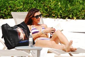 Ali Landry on the beach January 7, 2011