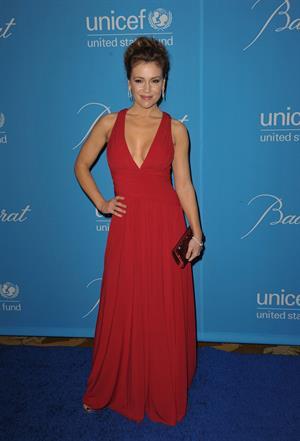 Alyssa Milano attends the Unicef Ball