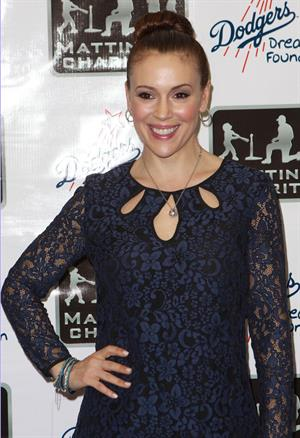 Alyssa Milano A Night Of Entertainment With Don Mattingly Hosted By George Lopez (Jan 24, 2013)