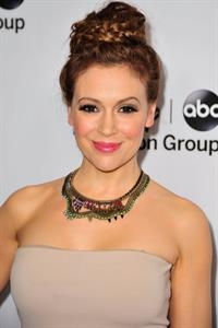 Alyssa Milano 2013 TCA Winter Press Tour - Disney ABC Television Group Red Carpet Gala (Jan 10, 2013)