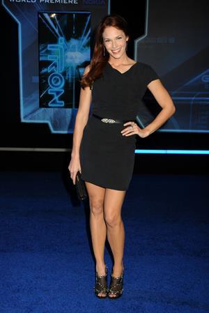Amanda Righetti world premiere of Walt Disney's Tron Legacy on December 11, 2012