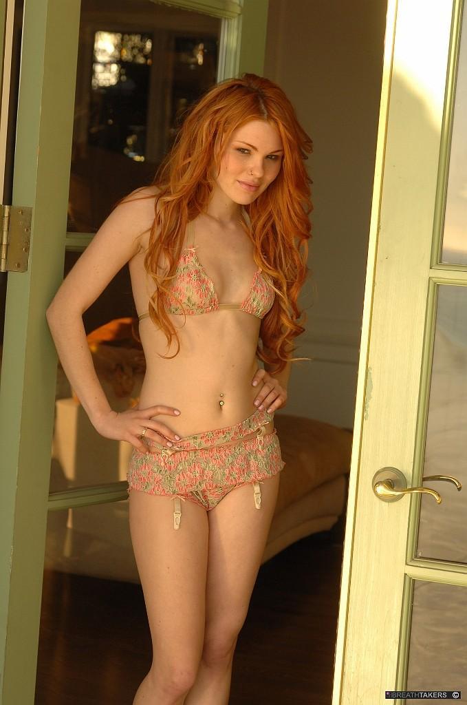 Jayme Langford in lingerie