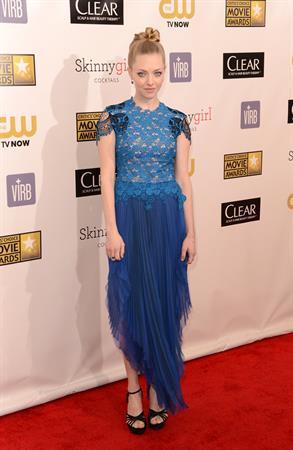 Amanda Seyfried 18th Critics' Choice Movie Awards in Santa Monica - 01/10/2013