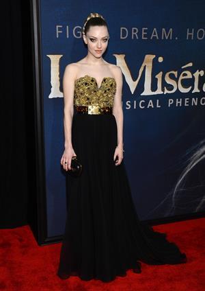 Amanda Seyfried 'Les Miserables' premiere in New York 12/10/12