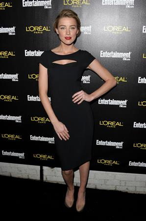 Amber Heard Entertainment Weekly's 17th annual pre screen Actor's Guild Awards party on January 29, 2011