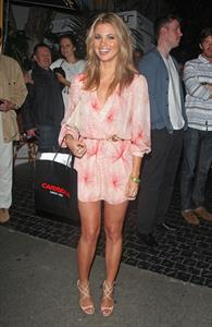 Amber Lancaster outside the Chateau Marmont in West Hollywood on July 21, 2012