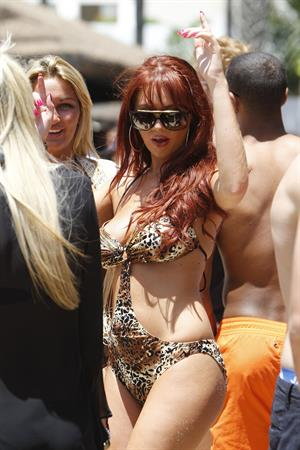 Amy Childs swimsuit candids Marbella May 28, 2011