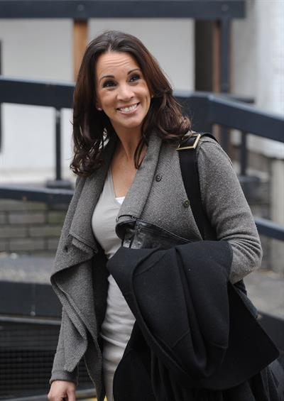 Andrea McLean outside London Studios on April 16, 2012