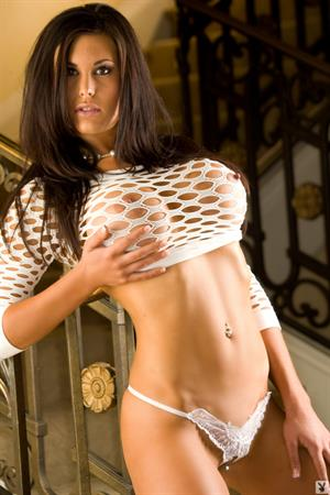 Mara Gianni in white top and lace panties