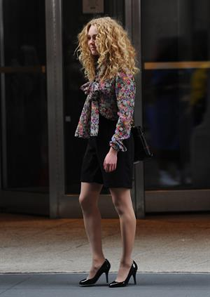 AnnaSophia Robb on the set of The Carrie Diaries in New York City on March 24, 2012