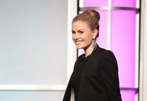 Anna Paquin attends the 33rd annual College Television Awards on April 31, 2012