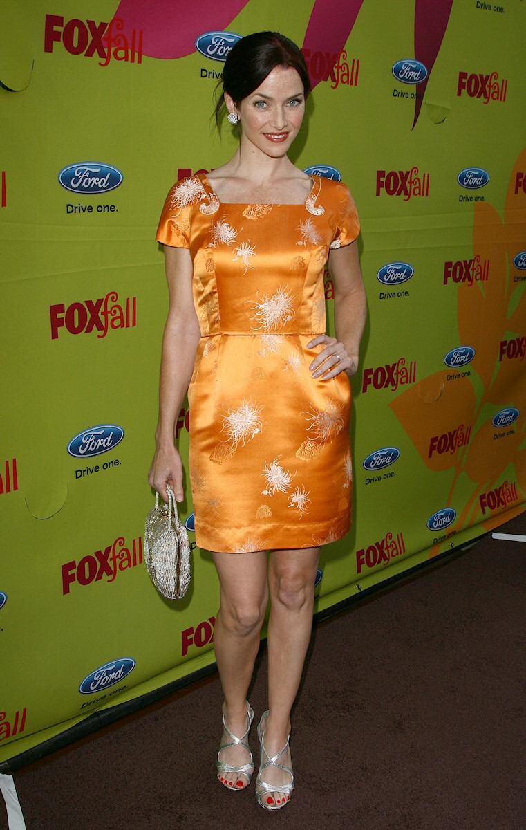 Annie Wersching attends the Fox Fall Eco Casino Party Boa Steakhouse in West Hollywood California
