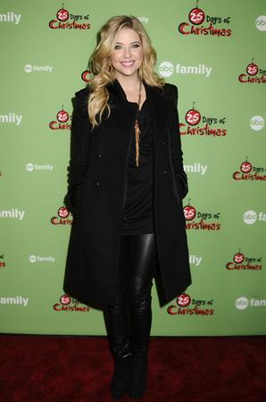 Ashley Benson ABC Family 25 days of Christmas Winter Wonderland Event on December 4, 2011