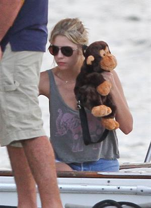Ashley Benson bikini on a boat in Florida March 11, 2012