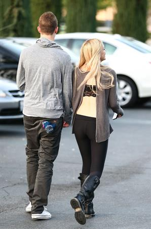 Ava Sambora leaving theater in Calabasas 10/31/12