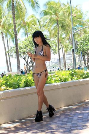 Bai Ling - Hawaiian bikini shoot August 23, 2012