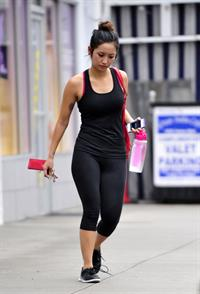 Brenda Song arrives at the gym in Studio City 11/29/12