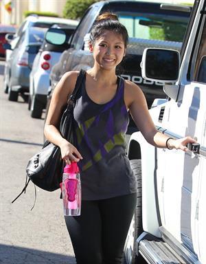 Brenda Song leaving gym in Studio City 11/6/12