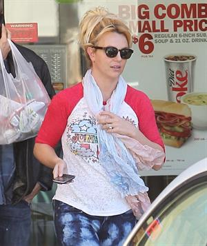 Britney Spears at a fast food restaurant in Calabasas 11/10/12