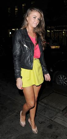 Brooke Vincent outside the Aura Nightclub in London on July 10, 2012