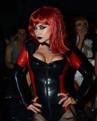 Carmen Electra attends Adam Lamberts Halloween Party at Bootsy Bellows LA on October 31, 2013