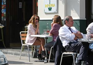 Caroline Flack Primrose Hill in London on March 30, 2012