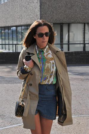 Caroline Flack London Studios on March 21, 2012