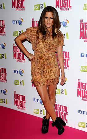 Caroline Flack BT Digital Music Awards 2011 on September 29, 2011